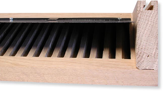 Wood Baseboard Heat Registers Damper Available