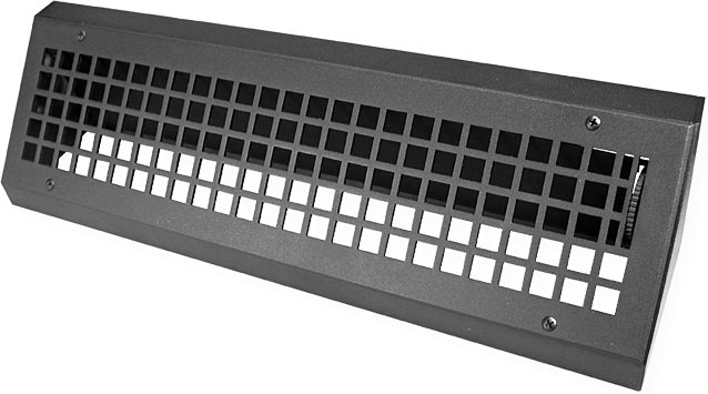 Short Metal Decorative Baseboard Heat Registers
