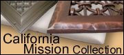 California mission style resin heat registers