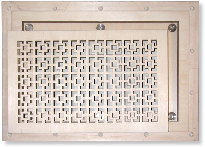 Flush Mount Magnetic Faceplate Heat Registers