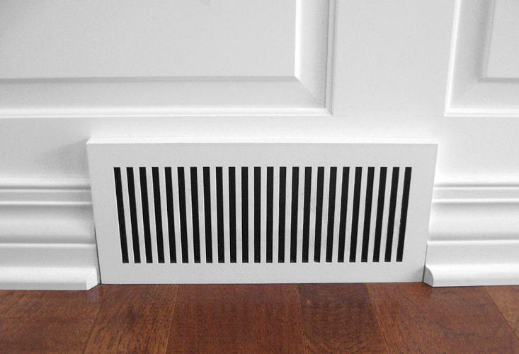 Laminated Custom Geometric Baseboard Heat Registers