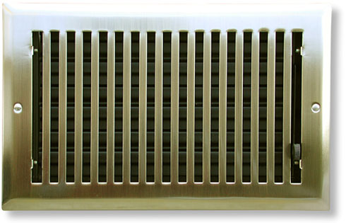 Mission Style Heat Registers In Antique Brass