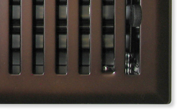 Oil Rubbed Bronze Register Closeup Mission Style